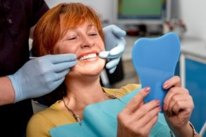 Idaho braces - adult woman in dental chair