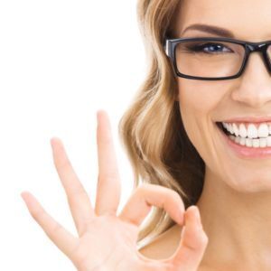 Woman with okay sign - Idaho Falls orthodontist