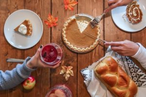 Thanksgiving dinner with friends - Idaho Falls orthodontist