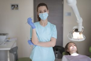 dentist with mask on